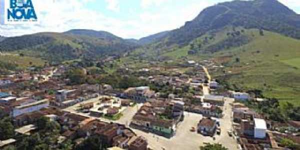 Valentim Distrito de Boa Nova-BA-Vista aérea da cidade-Foto:Portal Poções