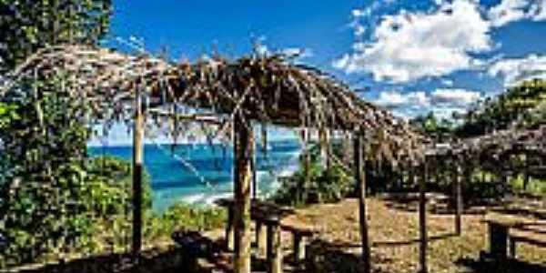 Cabana e o mar de Serra Grande-BA-Foto:Rebecca Nayara