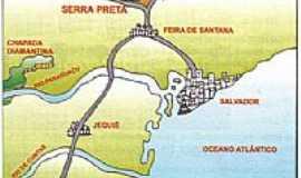Serra Preta - Mapa de localiza��o - Serra Preta-BA