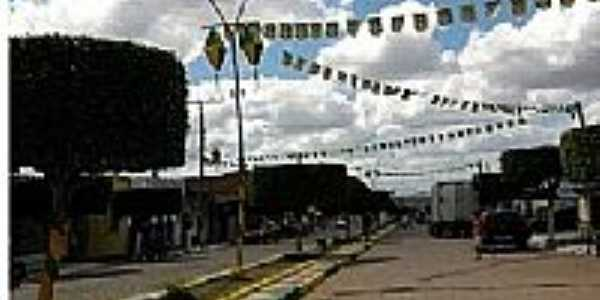 Avenida central em Sítio do Quinto-BA-Foto:Adriano Carvalho