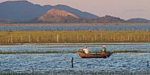 Pescadores no Lago de Sobradinho-Foto:Tovinho Regis