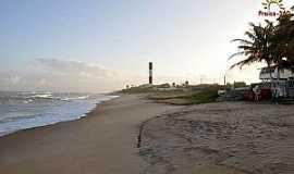 Subaúma - Subaúma-BA-Farol na praia-Foto:praias-360.