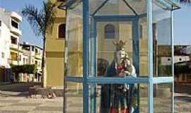 Tanhaçu - Igreja e Imagem de N.S.do Perpétuo Socorro,padroeira de Tanhaçu-Foto:ticosantana