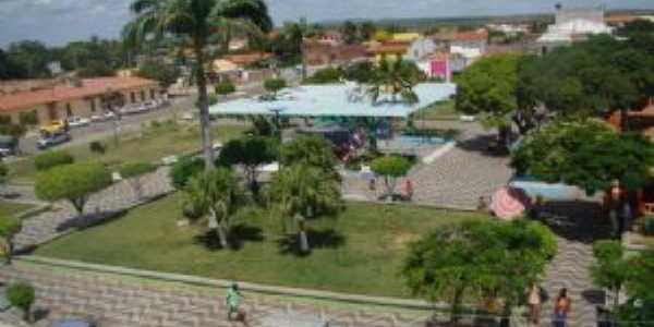 Vista áerea da Praça Ana Oliveira de Caldas do Jorro-Tucano Bahia, Por Edson de Melo Costa