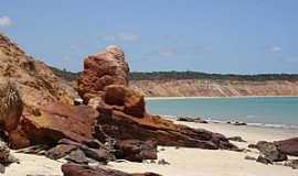 Maceió - Maceió-AL-Falésias na praia-Foto:alagoasqueamo