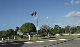 Mar Vermelho - Mar Vermelho-AL-Praça Cristo Redentor no centro-Foto:Francisco Ellyson Oliveira
