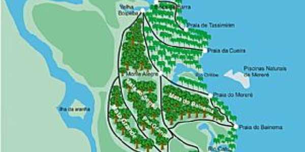 Velha Boipeba-BA-Mapa de Localização