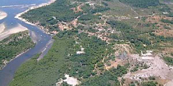 Velha Boipeba-BA-Vista aérea do Povoado e região-Foto:MARCO AINSWORTH