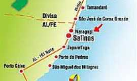 Maragogi - Mapa