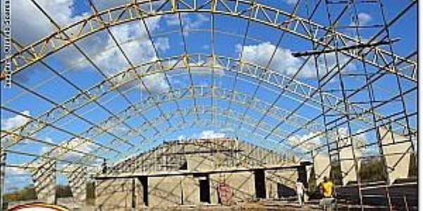 Abílio Martins-CE-Ginásio Poliesportivo em fase final de construção-Foto:ipu.ce.gov.br