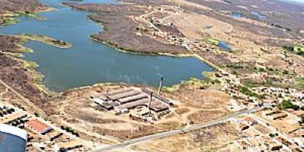 Acopiara-CE-Vista aérea da Barragem-Foto:Valdécio Pinheiro