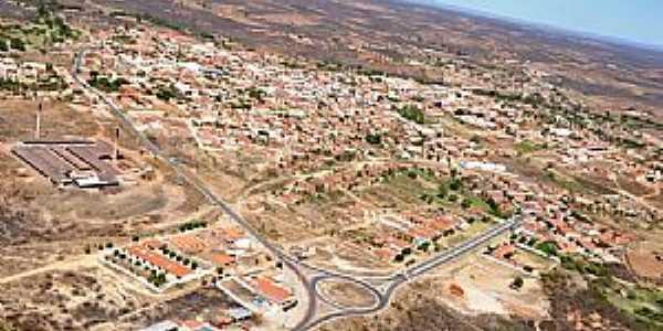 Acopiara-CE-Vista aérea da Rotatória e a cidade-Foto:Valdécio Pinheiro