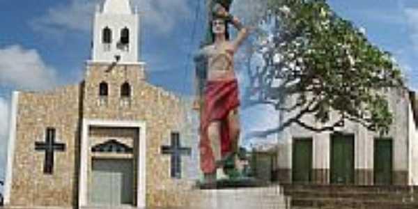 Adrianópolis-CE-Igreja e a Imagem de São Sebastião-Foto:Darlan Fontenele Mag…