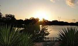 Maravilha - Pôr do Sol no lago em Maravilha-Foto:Elio Rocha
