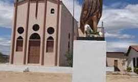 Amanari - Amanarí-CE-Imagem de São João Batista em frente a Igreja-Foto:commons.wikimedia.org