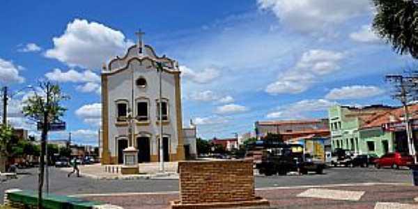 Amontada-CE-Praça e Matriz de N.Sra.da Conceição-Foto:ARAGÃO