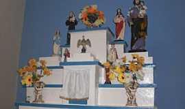 Anauá - Anauá-CE-Altar da Capela do distrito-Foto:mauritiemdestaque.