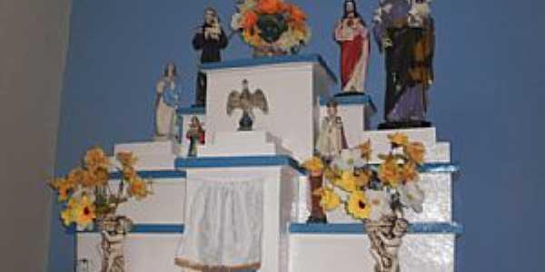 Anauá-CE-Altar da Capela do distrito-Foto:mauritiemdestaque.