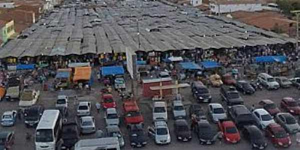 Aprazível-CE-Vista aérea da Feira semanal-Foto:CHAGAS NEGREIROS