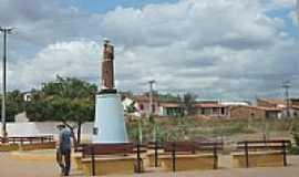 Aracoiaba - Imagem de S�o Francisco na entrada da cidade de Aracoiaba-CE-Foto:andre pimentel
