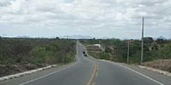 Rodovia CE-060 em Aracoiaba-CE-Foto:andre pimentel