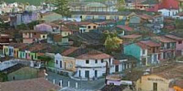 O colorido das casas em Aratuba, antiga Vila de Coité-CE-Foto:JulioLima