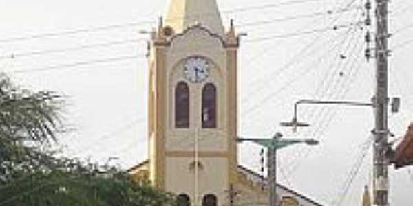 Igreja Matriz de S�o Francisco das Chagas em Baixio-CE-Foto:Cin�zio Ramalho