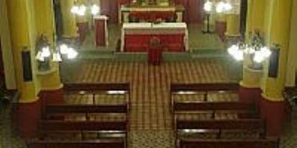 Interior da Igreja Matriz de São Francisco das Chagas em Baixio-CE-Foto:Cinézio Ramalho