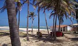 Barra Nova - Barra Nova-CE-Coqueiros na praia-Foto:JEAN LIRA