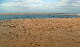 Barra Nova - Barra Nova-CE-Lagoa formada pela maré-Foto:JEAN LIRA