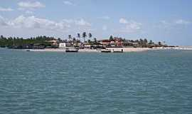 Barra Nova - Barra Nova-CE-Rio Choró e a cidade-Foto:jrmanicar