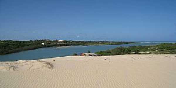 Barra Nova-CE-Dunas no Rio Choró-Foto:jrmanicar