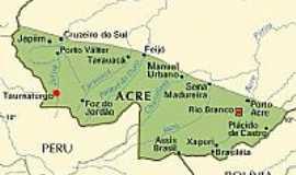 Marechal Thaumaturgo - Mapa