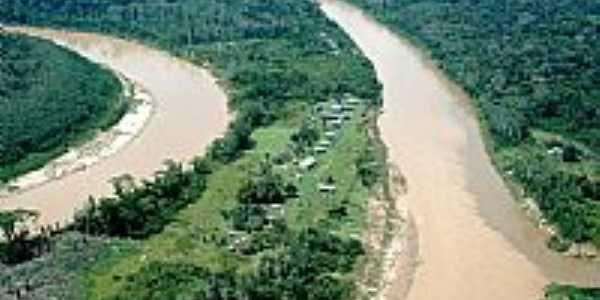 Povoado de Boca do Tejo - Marechal Thaumaturgo-AC - foto www.aurelioschmitt.blogspot.com.br