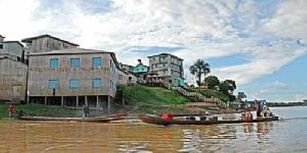 Marechal Thaumaturgo-AC-O rio e a cidade-Foto:Jezaflu Jesus