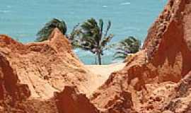 Beberibe - Monumento Natural das Falésias de Beberibe-local das areias coloridas usadas em artesanatos-Foto:Isa Lanziani
