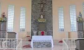 Monteirópolis - Altar da Igreja de São Sebastião em Monteirópolis-AL-Foto:Wanessa Duarte