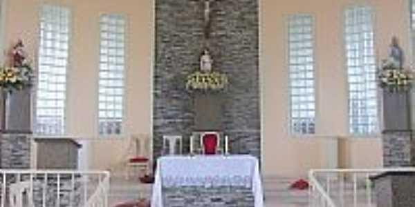 Altar da Igreja de São Sebastião em Monteirópolis-AL-Foto:Wanessa Duarte