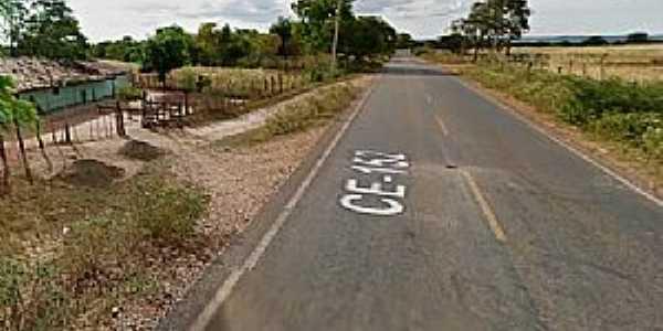 Buritizinho-CE-Rodovia na entrada da cidade-Foto:www.noticiasatuaishoje.com.br