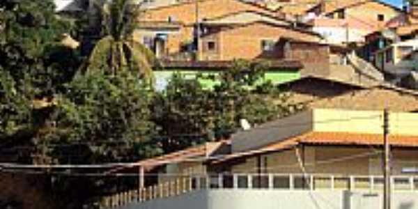 Novo Lino-AL-Casas do morro no centro-Foto:Orlando de Almeida Calado