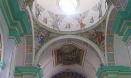 Canindé - Canindé-CE-Pinturas no interior da Igreja de São Francisco das Chagas-Foto:Josue Marinho