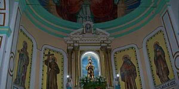 Canindé-CE-Altar da Igreja de São Francisco das Chagas-Foto:Josue Marinho