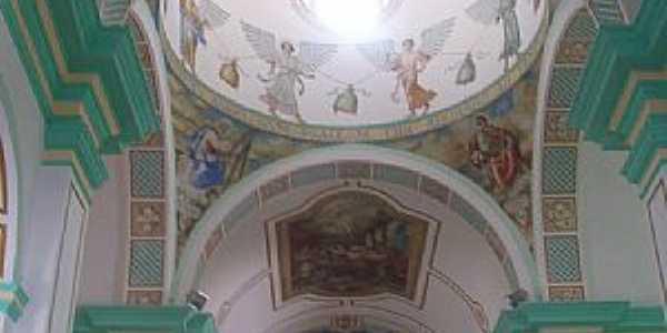 Canindé-CE-Pinturas no interior da Igreja de São Francisco das Chagas-Foto:Josue Marinho