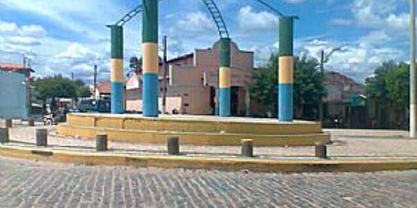 Choró-CE-Praça Central-Foto:gilmar frança