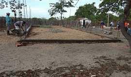 Córrego dos Fernandes - Córrego dos Fernandes-CE-Construção da Igreja-Foto:folhagospelaracatiense