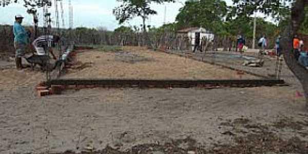 Córrego dos Fernandes-CE-Construção da Igreja-Foto:folhagospelaracatiense