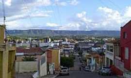 Crato - Crato-CE-Vista da cidade e ao fundo a Serra de Araripe-Foto:professor_pepe