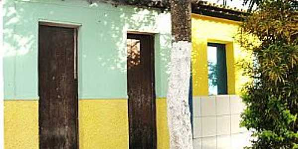 Gameleira de São Sebastião-CE-Casario do Distrito-Foto:cariricangaco.