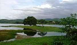 Guai�ba - Ilha sobre o a�ude por Eli�ta Fernandes