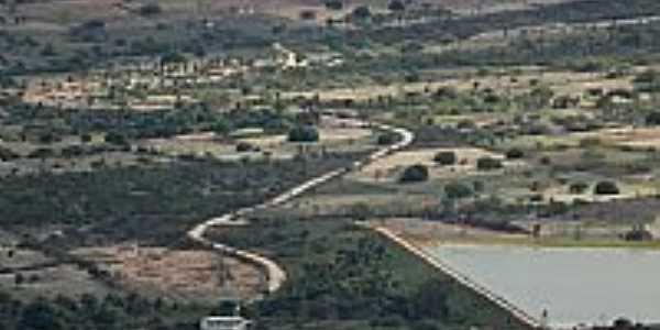 Vista aérea da região de Pariconha-AL-Foto:Pariconha